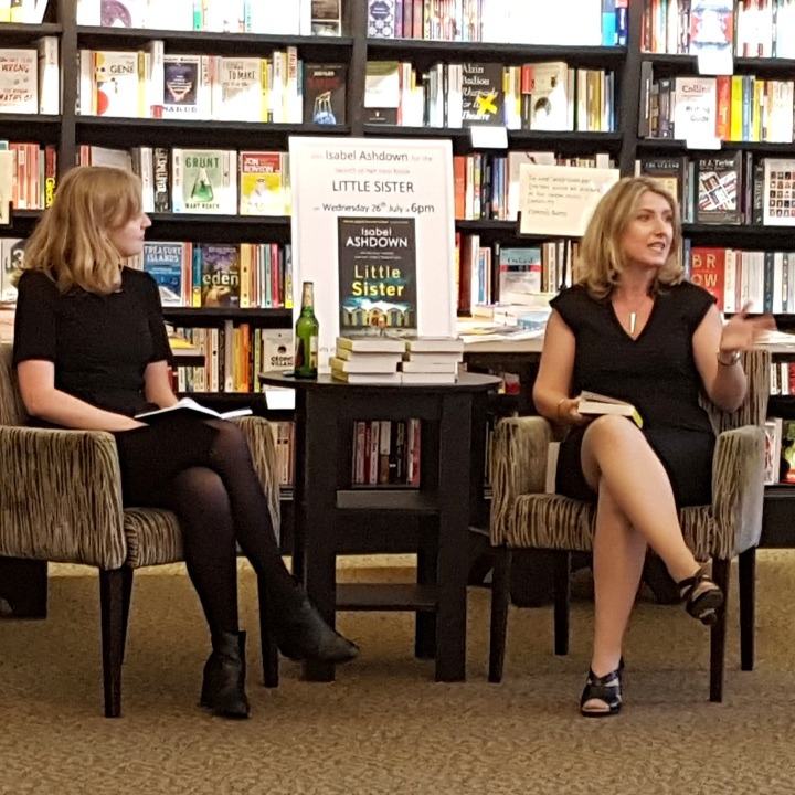 Little Sister Launch, Waterstones, Chichester, 2017