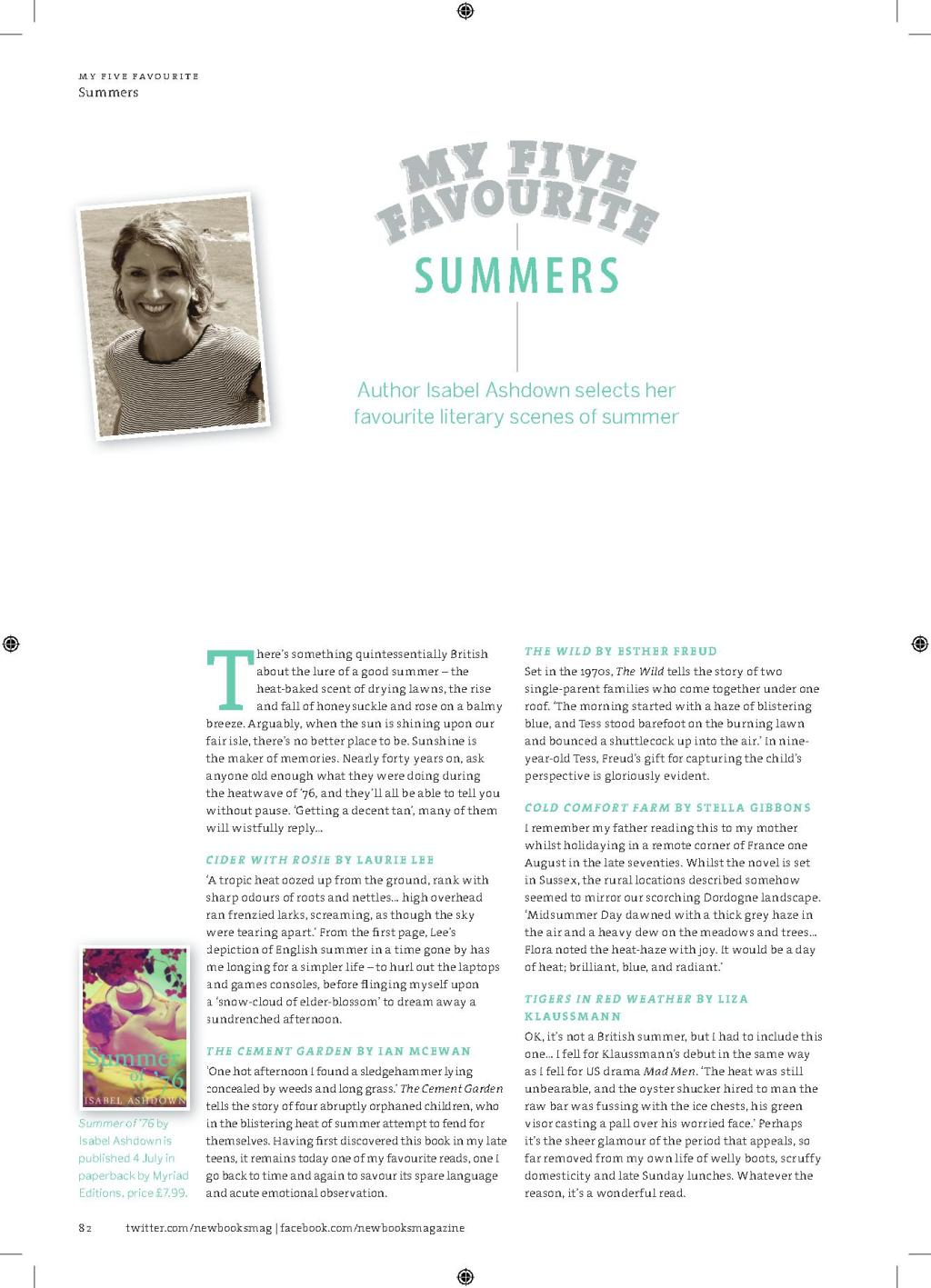 New Books Mag, 5 Fav Summers, May 2013_1