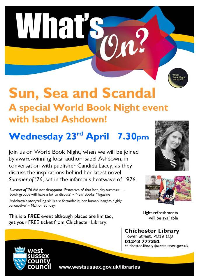 World Book Night Event with Isabel Ashdown (Apr 2014) (2)
