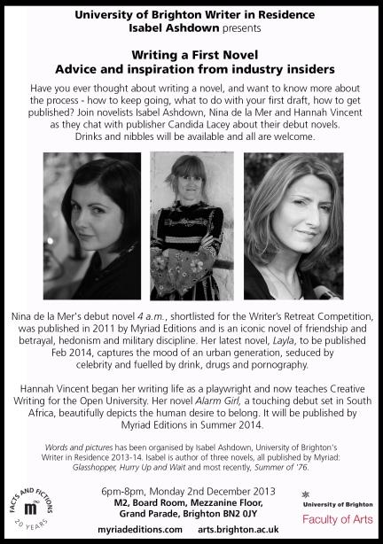 WiR Salon Writing a 1st Novel, 2013