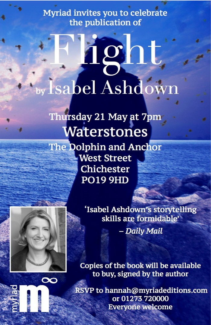 Flight launch invite Chi Waterstones