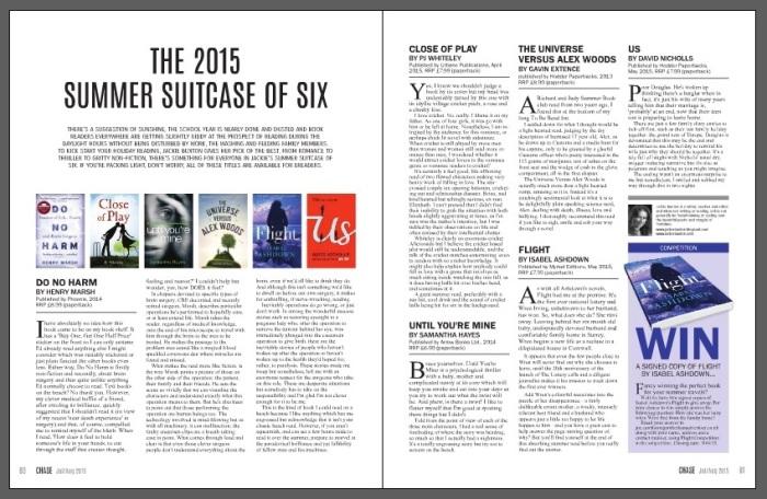 Chase magazine, Flight, July 2015